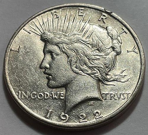 1922 D Peace Dollars 21514