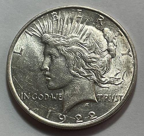 1922 D Peace Dollars 21533