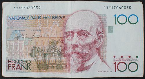 Belgium P140a 100 Francs VF