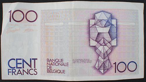 Belgium P140a 100 Francs VF #2