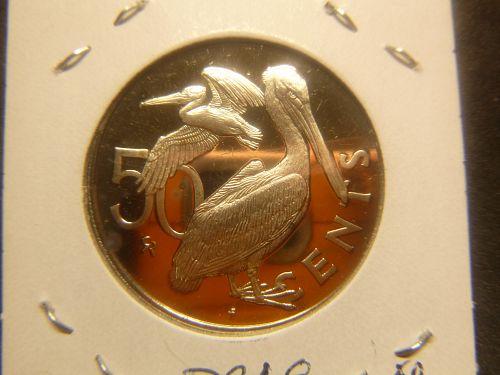 "VIRGIN ISLANDS 1973 50 CENTS ""PFOOF"""