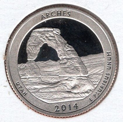 2014 S Arches America The Beautiful Quarters: Silver Proof -#5e1
