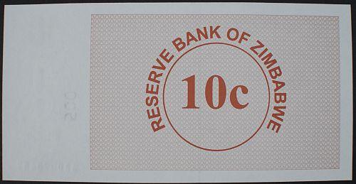Zimbabwe P35 10 Cents UNC64