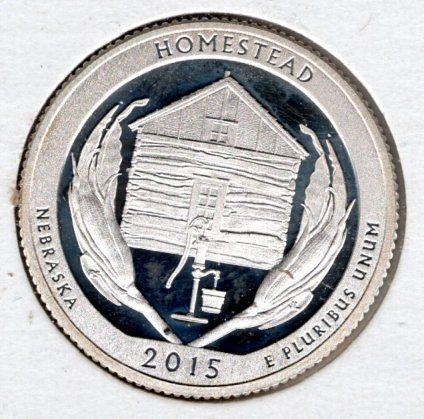 2015 S Homestead America The Beautiful Quarters: Silver Proof -#5e7