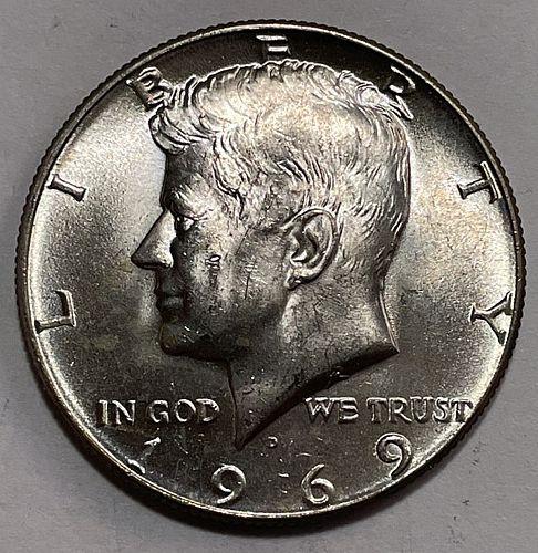 1969 D Kennedy Half Dollars 11514