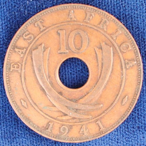 1941I East Africa 10 Cents VF++