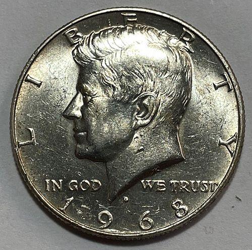1968 D Kennedy Half Dollars  11523