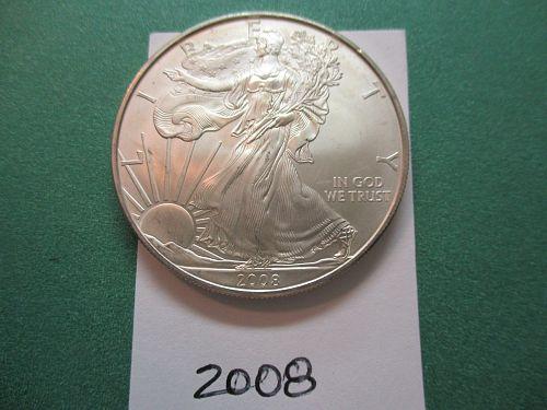 2008  American Silver Eagle.  Item: E-08.