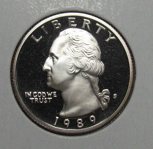 1989 S Proof Washington Quarter