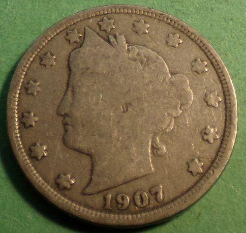 1907 P Liberty Head Nickel