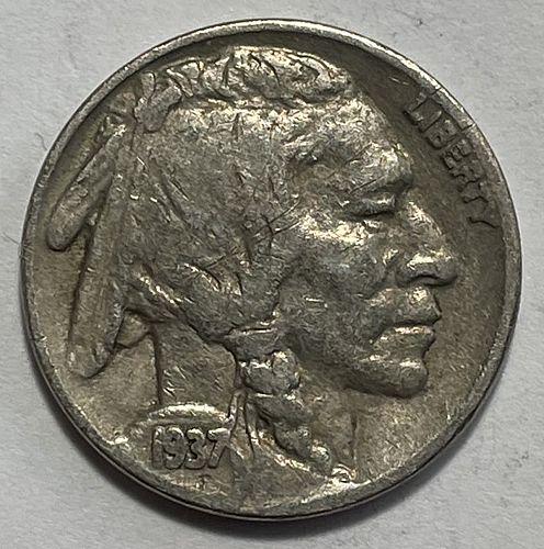 1937 Buffalo Nickels Indian Head Nickel.  11533