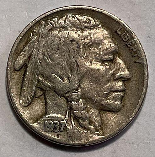 1937 D Buffalo Nickels Indian Head Nickel. 11542