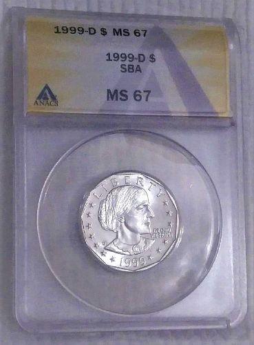 1999d MS-67 Susan B. Anthony Dollar ANACS