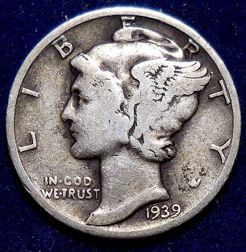 1939-P Mercury Dime
