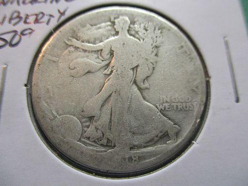 1918  AG3 Walking Liberty Half Dollar.  Item: 50 W18-04.
