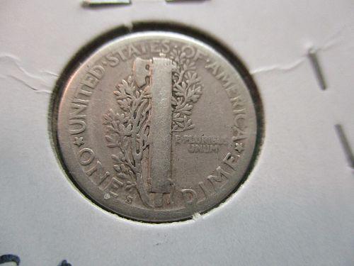 1918-S  VG8 Mercury Dime.  Item: 10 M18S-02.