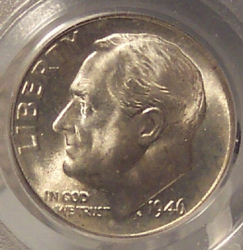 1946-D Roosevelt Silver Dime PCGS MS66 Omaha Bank Hoard #G010
