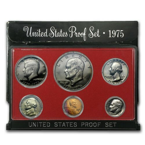 1975 S Proof Sets: With 1976 Quarter Half and Dollar