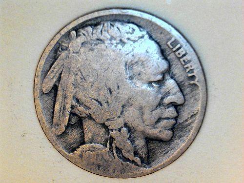 1917 P Buffalo Nickel--VG