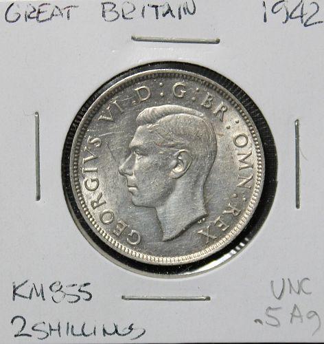 Great Britain 1942 2 shillings