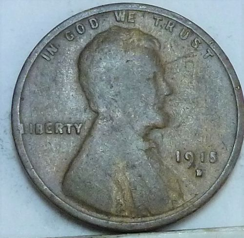 Here is a Good 1915-S Lincoln Wheat Cent  (  475 )