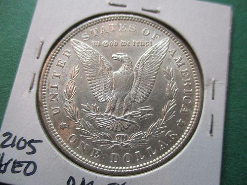 1896  AU58 Morgan Dollar.  Item: DM 96-15.