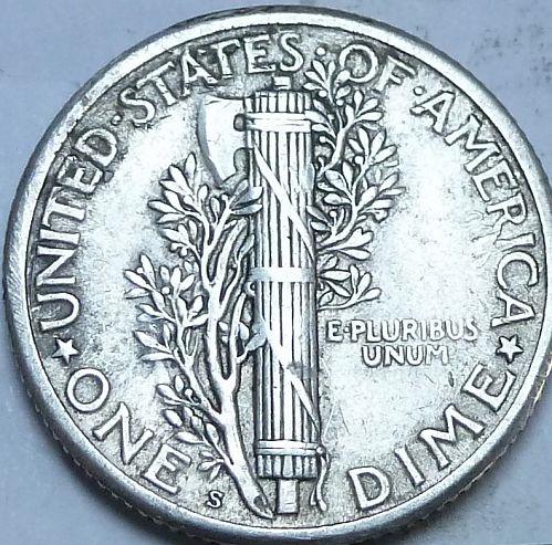 1917-S Extra Fine Mercury Dime  XF ( 260-C)