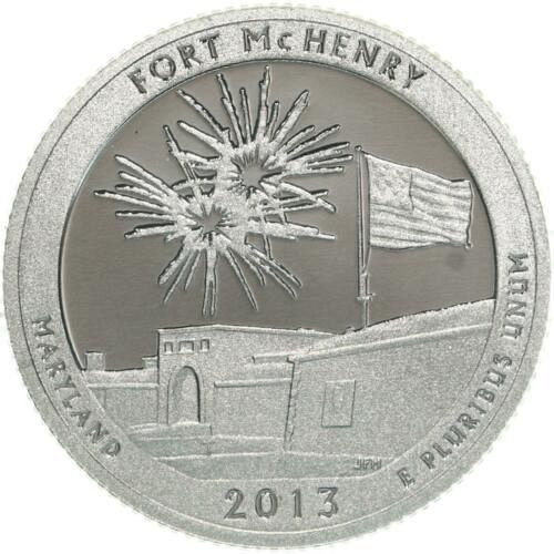 2013  S SILVER  PROOF FORT McHENRY   WASHINGTON QUARTER