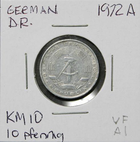 Germany (Democratic Republic) 1972A 10 pfennig