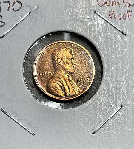 1970-S High Grade GEMBU Proof (Proof Mint Set) Lincoln US Penny