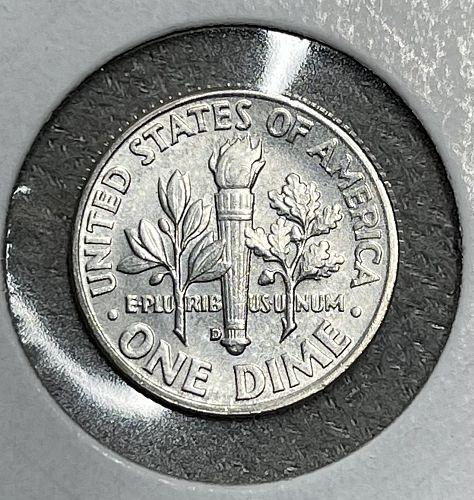 1961-D High Grade AU/UNC. Roosevelt US Silver Dime