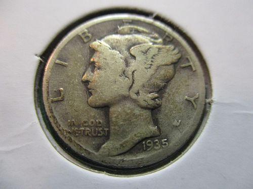 1935-S  VG10 Mercury Dime.  Item: 10 M35S-03.