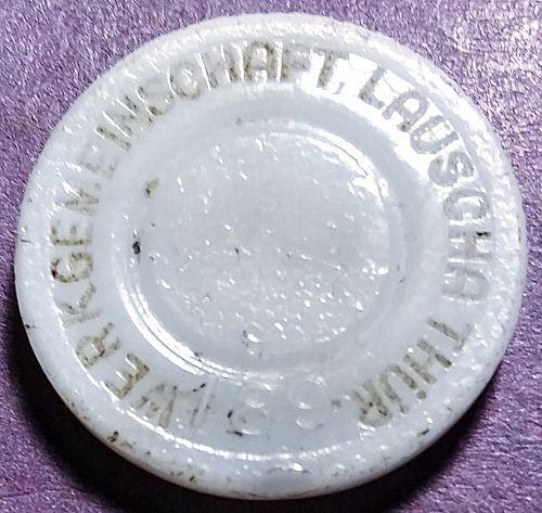 EARLY 1900'S LAUSCHA - THUR , GERMANY WERKGEMEINSCHAFT. GLASS BOARD GAME PIECE