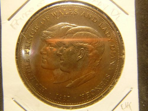 PRINCES OF WALES AND LADY DI 1981 25 PENCE
