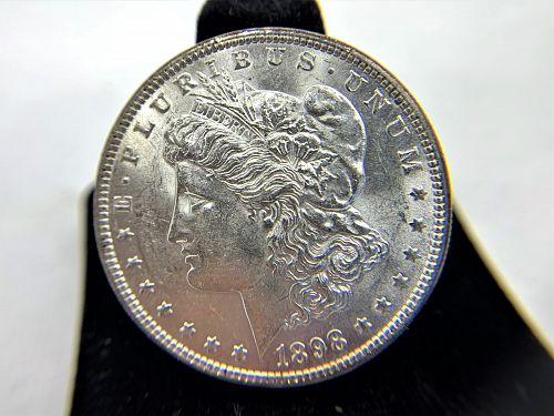1896 1897 1898 Morgan Head Silver Dollars ~ Lot of three (3)  **** REDUCED PRICE