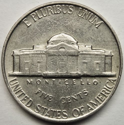 1964 P Jefferson Nickel#15 DDR-041 Double Die Reverse ERROR