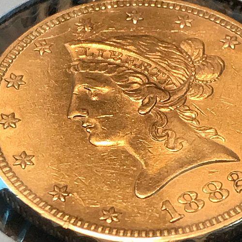 1882 P Coronet Head Gold $10 Eagle