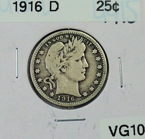 1916 D Barber Quarter
