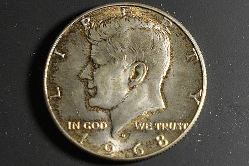 1968-D Mint Silver Kennedy Half Dollar