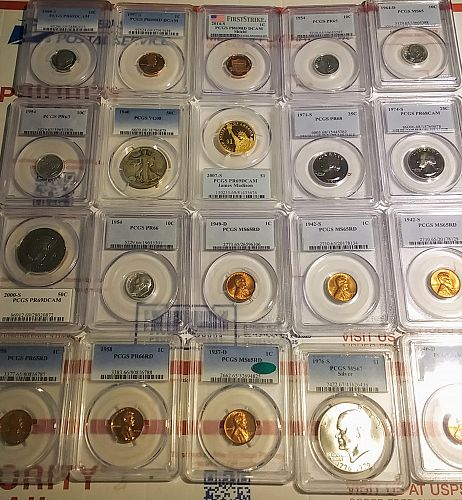 PCGS Box Lot of 20 American 🇺🇸 Coins 1937-2014