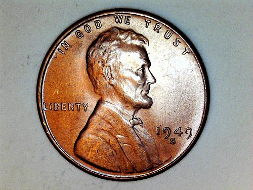 1949 S Lincoln Cent---Uncirculated (price dropped 8/16/21)