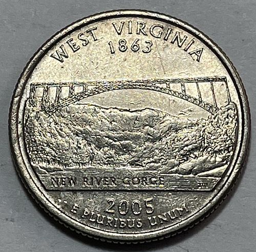 2005 P West Virginia 50 States and Territories Quarters 3851