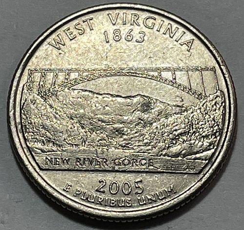 2005 P West Virginia 50 States and Territories Quarters 3852