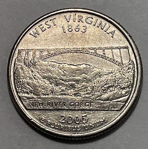 2005 P West Virginia 50 States and Territories Quarters 3853