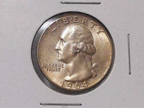 "1964 ""P"" Washington Uncirculated quarter"