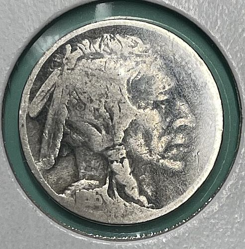 1916-P Circulated Buffalo Nickel - Visible Date & Nice Fine Details