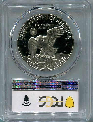 "1974 - S  Eisenhower Dollar  "" SILVER ""  PCGS  PR69DCAM"