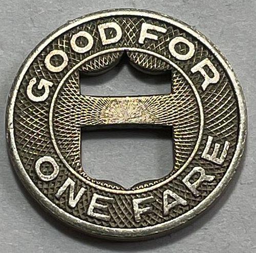 1 Fare - Los Angeles Transit Lines Token 1946.   3854