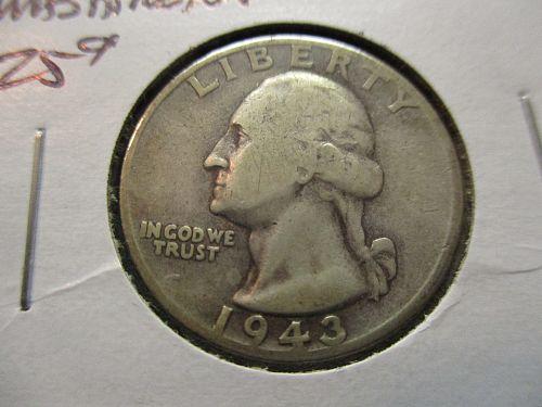 1943-D  G6 Washington Quarter.  Item: 25 W43D-03.