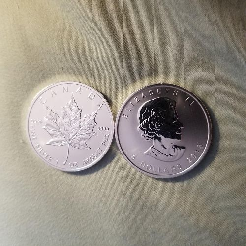 2013 Silver Canadian Maple Leaf $5 Coin